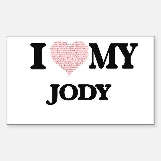 I Love my Jody (Heart Made from Love my wo Decal