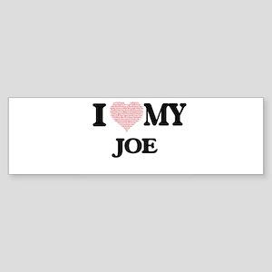 I Love my Joe (Heart Made from Love Bumper Sticker