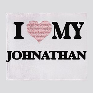 I Love my Johnathan (Heart Made from Throw Blanket