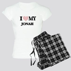 I Love my Jonah (Heart Made Women's Light Pajamas