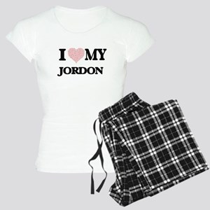 I Love my Jordon (Heart Mad Women's Light Pajamas