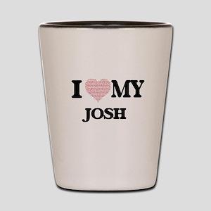 I Love my Josh (Heart Made from Love my Shot Glass