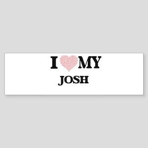 I Love my Josh (Heart Made from Lov Bumper Sticker