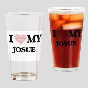 I Love my Josue (Heart Made from Lo Drinking Glass