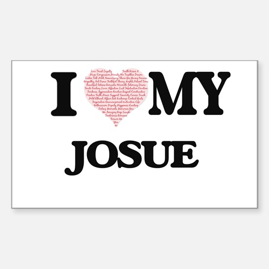 I Love my Josue (Heart Made from Love my w Decal