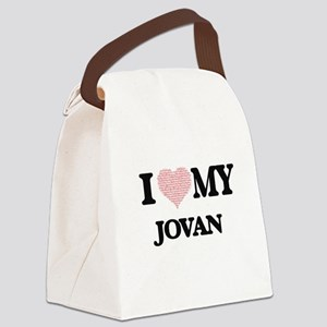I Love my Jovan (Heart Made from Canvas Lunch Bag