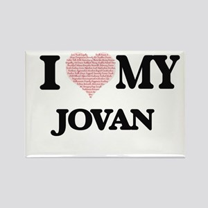 I Love my Jovan (Heart Made from Love my w Magnets