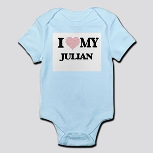 I Love my Julian (Heart Made from Love m Body Suit