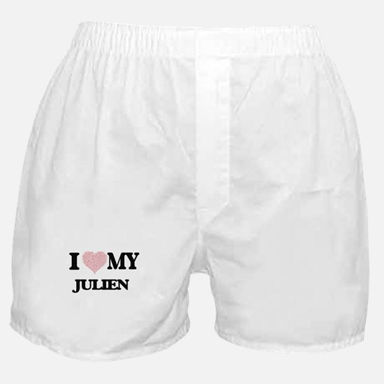 I Love my Julien (Heart Made from Lov Boxer Shorts