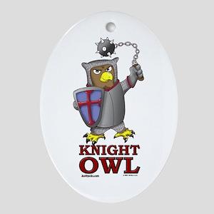 Knight Owl Oval Ornament