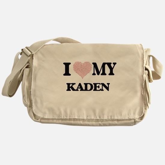 I Love my Kaden (Heart Made from Lov Messenger Bag
