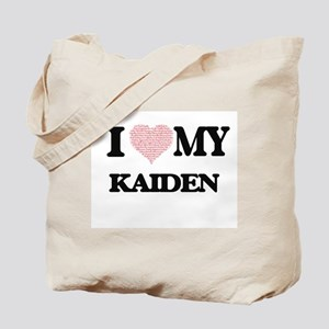 I Love my Kaiden (Heart Made from Love my Tote Bag