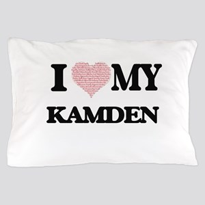 I Love my Kamden (Heart Made from Love Pillow Case