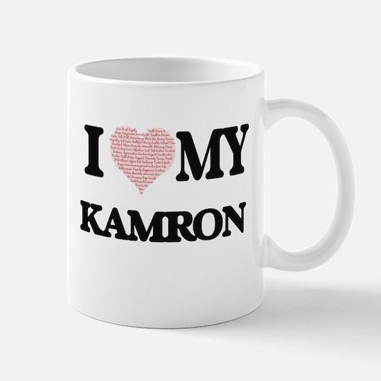 I Love my Kamron (Heart Made from Love my wor Mugs