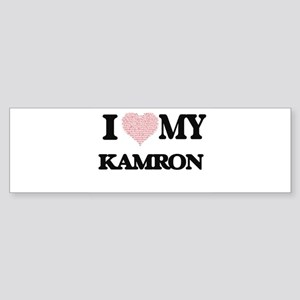 I Love my Kamron (Heart Made from L Bumper Sticker