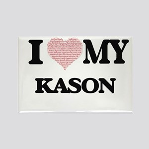 I Love my Kason (Heart Made from Love my w Magnets