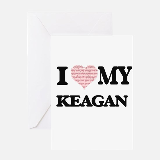 I Love my Keagan (Heart Made from L Greeting Cards