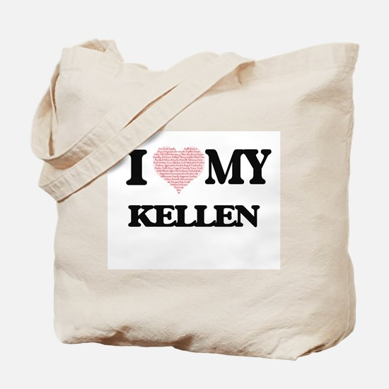 I Love my Kellen (Heart Made from Love my Tote Bag