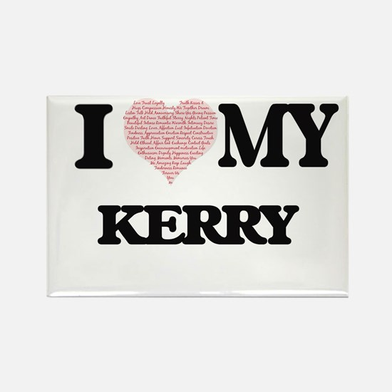 I Love my Kerry (Heart Made from Love my w Magnets