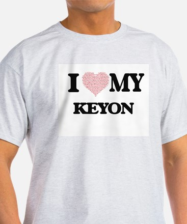 I Love my Keyon (Heart Made from Love my w T-Shirt