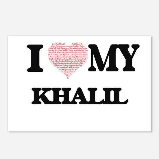 I Love my Khalil (Heart M Postcards (Package of 8)