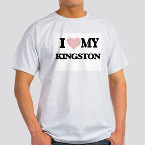I Love my Kingston (Heart Made from Love m T-Shirt