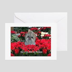 Shih Tzu Christmas Greeting Cards