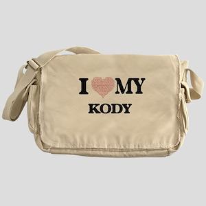 I Love my Kody (Heart Made from Love Messenger Bag