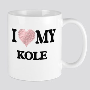 I Love my Kole (Heart Made from Love my words Mugs