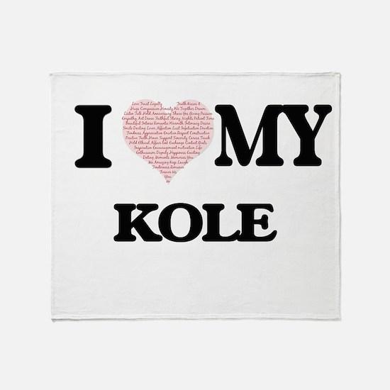 I Love my Kole (Heart Made from Love Throw Blanket