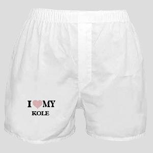 I Love my Kole (Heart Made from Love Boxer Shorts