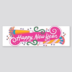 Happy New Year's Party Bumper Sticker