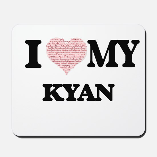 I Love my Kyan (Heart Made from Love my Mousepad