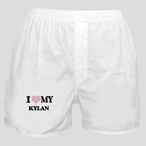 I Love my Kylan (Heart Made from Love Boxer Shorts