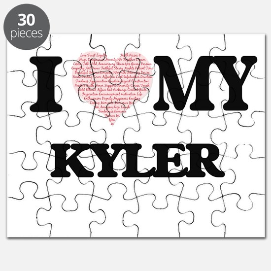 I Love my Kyler (Heart Made from Love my wo Puzzle