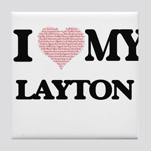 I Love my Layton (Heart Made from Lov Tile Coaster