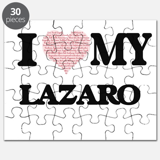 I Love my Lazaro (Heart Made from Love my w Puzzle