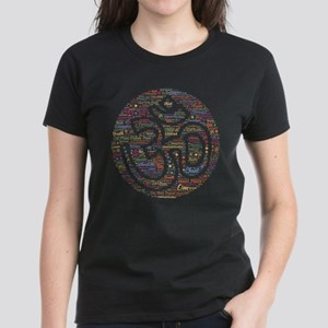 Om Symbol Word Art Women's Dark T-Shirt