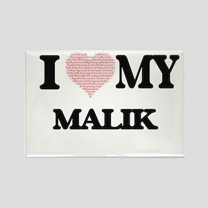 I Love my Malik (Heart Made from Love my w Magnets