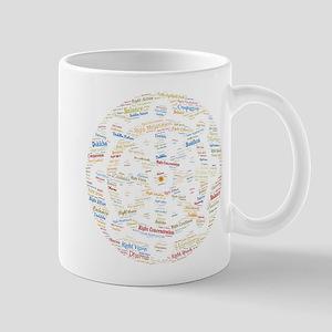 Dharma Wheel Colorful Word Art Mug