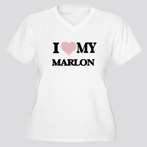 I Love my Marlon (Heart Made fro Plus Size T-Shirt