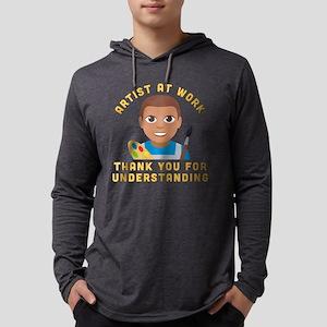 Emoji Artist at Work Mens Hooded Shirt