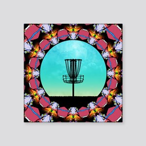Disc Golf Abstract Basket 6 Sticker