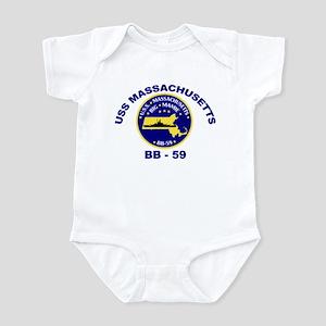USS Massachusetts BB-59 Infant Bodysuit