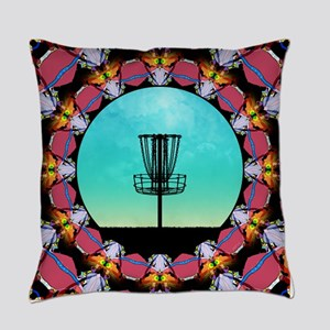 Disc Golf Abstract Basket 6 Everyday Pillow