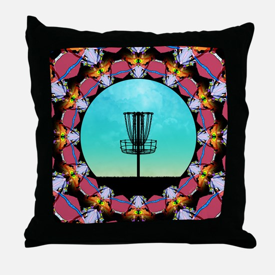 Disc Golf Abstract Basket 6 Throw Pillow