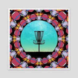 Disc Golf Abstract Basket 6 Queen Duvet