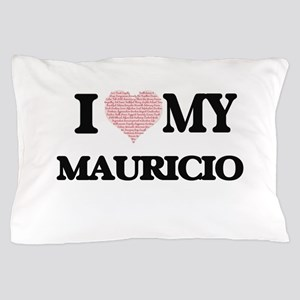 I Love my Mauricio (Heart Made from Lo Pillow Case