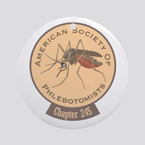 American Society Of Phlebotomists Round Ornament