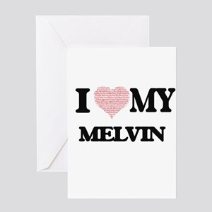 I Love my Melvin (Heart Made from L Greeting Cards